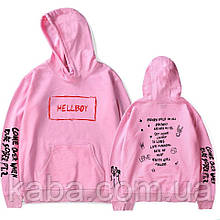 Худи Lil Peep Hellboy camo розовое унисекс/БИРКА