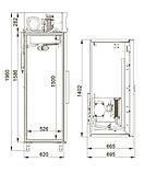 Холодильный шкаф Polair CМ110-G из нержавеющей стали объём 1000 л., фото 2