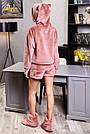 Махровый домашний костюм с ушками шортами женский терракотовый, фото 6