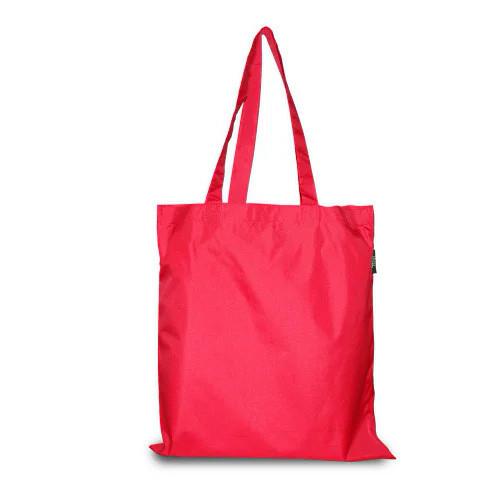 Эко-сумка из плащевки 38 х 40 см, красная