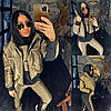 Р 48-58 Теплий костюм трійка-жилетка, кофта та штани Батал 22709