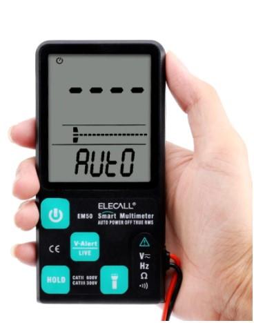 Цифровой мультиметр ELECALL EM50 ,True RMS с подсветкой