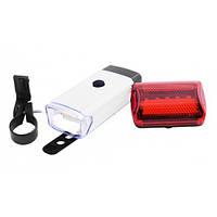 Велосипедный фонарь LED (комплект - передний и задний) BL-408 COB White, фото 1