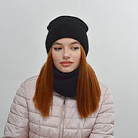 Комплект Nord Тереза шапка+снуд  черный