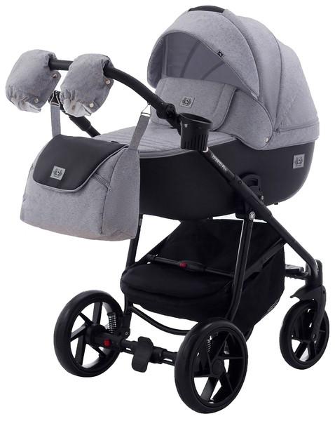Универсальная коляска 2 в 1 Adamex Hybryd Plus BR205, светло-серый (623885)