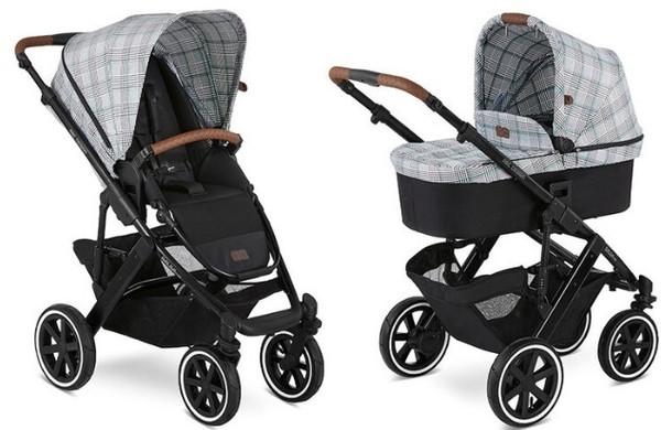 Универсальная коляска 2 в 1 ABC Design Salsa 4 Air Fashion, черный с серым (1200228/2008)