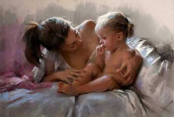 Картина по номерам 40х50 см DIY Мать и дитя Висенте Ромеро Редондо (NX 9250)