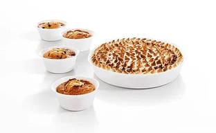 Набор форм белых стеклянных Smart Cuisine 5шт для запекания