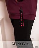 Женский спортивный костюм теплый Трехнитка на флисе Размер 50 52 54 56 58 60 В наличии 3 цвета, фото 3