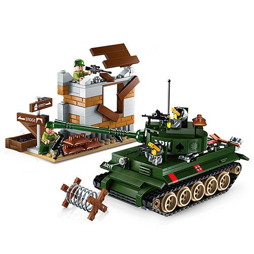 Конструктор Brick Qman 1711 Контратака Танка 380 деталей