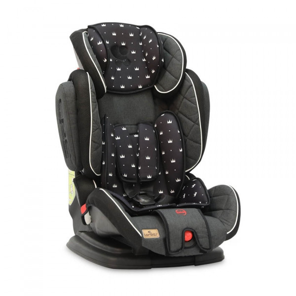 Автокресло Lorelli Magic Premium Короны, 9-36 кг, черный (22371)