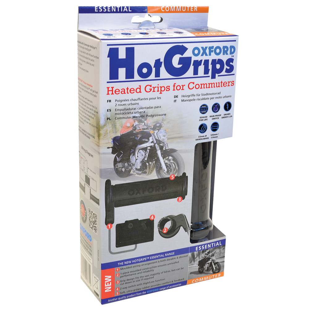 Ручки с подогревом Oxford HotGrips Essential Commuter OF771