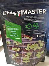Комплексне водорозчинне мінеральне добриво для розсади MASTER Універсал Valagro Італія 250 грам на 100 л води