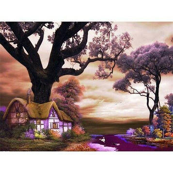 Картина по номерам 40х50 см DIY Домик под деревом (NX 9282)