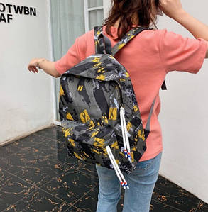 Вместительный тканевый рюкзак для школы, фото 2