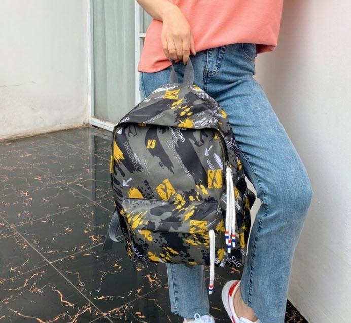 Вместительный тканевый рюкзак для школы