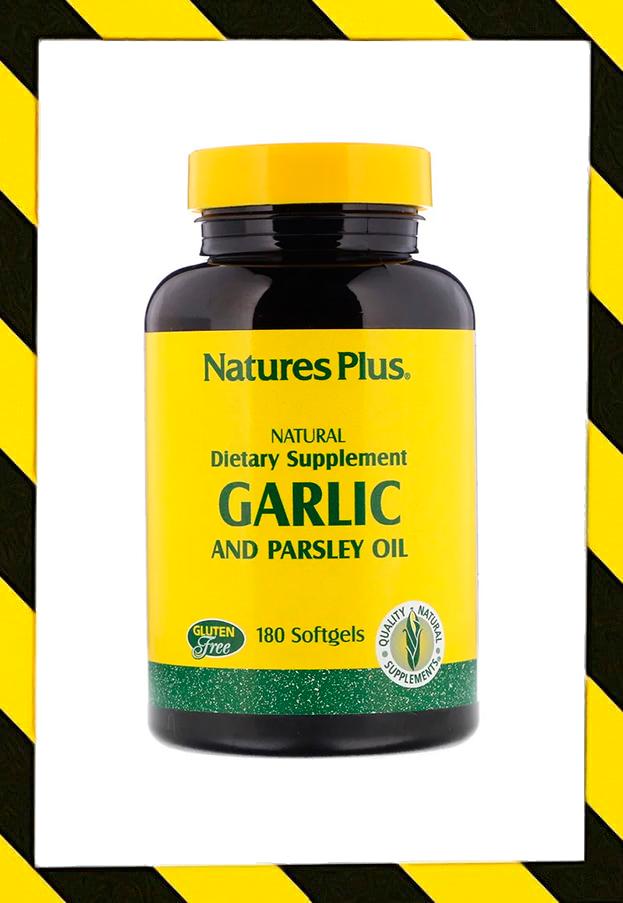 Nature's Plus, Масло чеснока и петрушки, капсулы 180 гелевых капсул