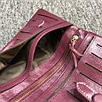 Большой кошелек на завязке с кнопкой / натуральная кожа (10252) Бордовый, фото 5