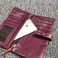 Большой кошелек на завязке с кнопкой / натуральная кожа (10252) Бордовый, фото 7