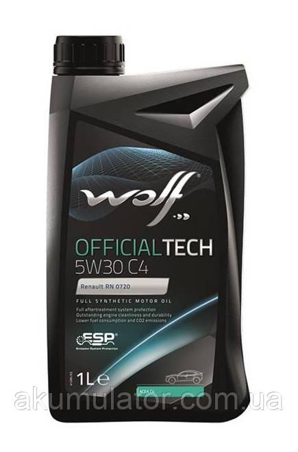 Моторное масло WOLF OFFICIALTECH 5W-30 C4, 1л