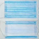 Маска медицинская одноразовая 3-х слойная нестерильная на резинках голубая/ 3ЕЕЕ, фото 2
