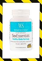 Natural Factors, WomenSense, SexEssentials, формула для здорового полового влечения, 90 вегетарианских капсул