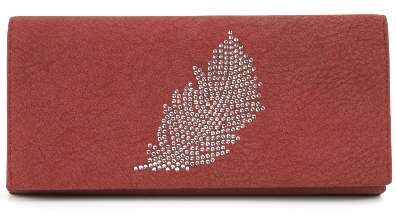 Класичний жіночий цікавий гаманець з якісної еко шкіри TAILIAN art.8806-073 червоний