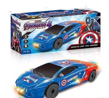 Машина Капитан Америка музыкальная, свет/звук в коробке