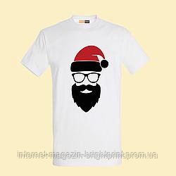 """Чоловіча футболка з принтом """"Санта"""""""