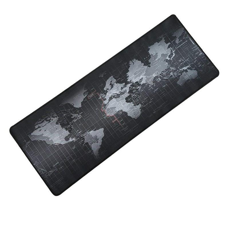 Коврик для мыши большой Black map Карта мира mousepad 70*30 см Геймерский коврик для мыши