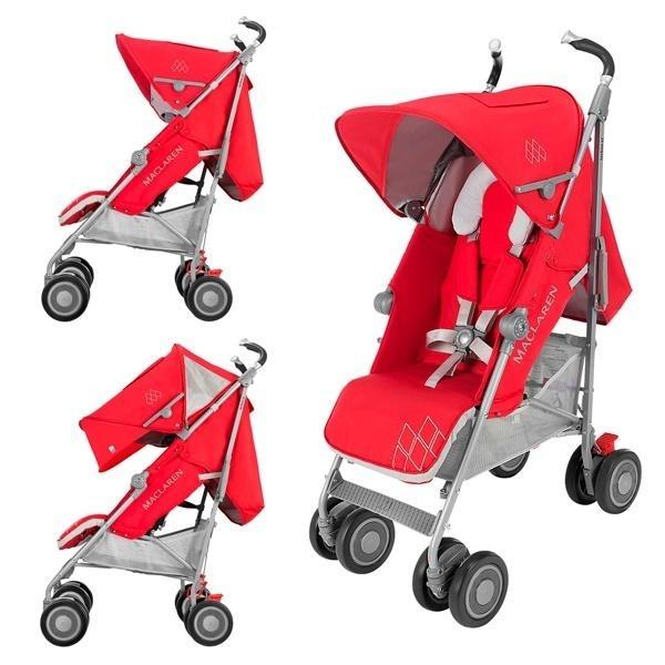 Прогулочная коляска Maclaren Techno XT, красный c серым (WM1Y070072)