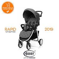 4BABY Rapid Len 2019 прогулочная коляска Graphite, фото 1