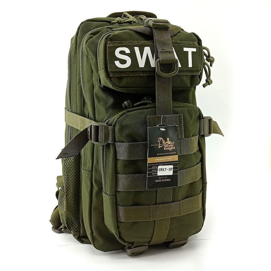 Тактический штурмовой военный рюкзак 30л Silver Knight Tactic (swat-3Р-olive)