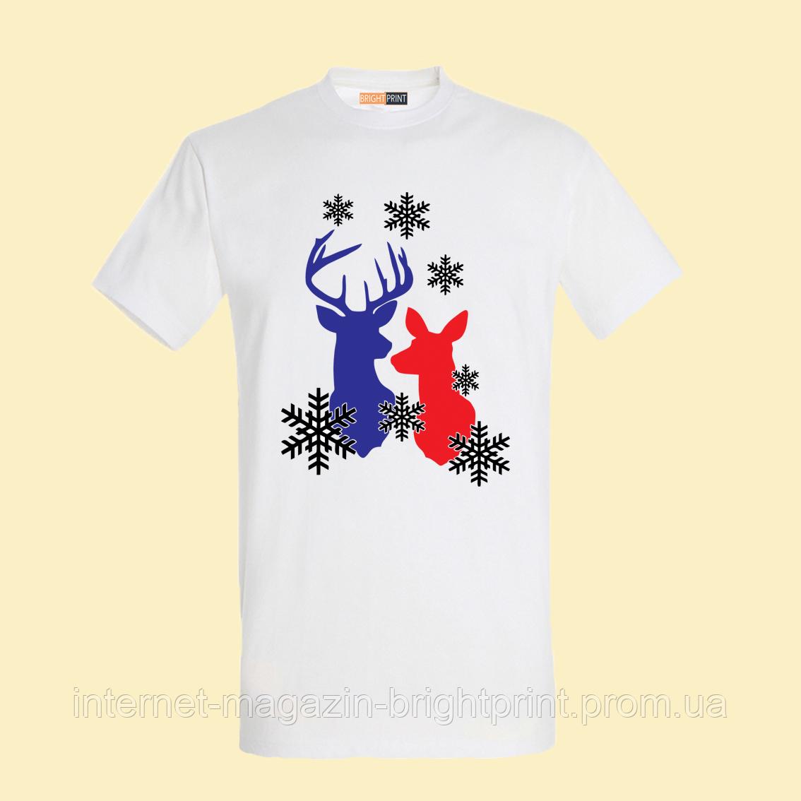 """Чоловіча футболка з принтом """"Олені"""""""
