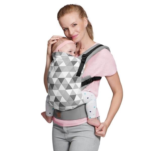 Рюкзак-переноска Kinderkraft Nino Grey KKNNINOGRY0000, серый (00-00158717)