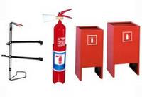 Кронштейны для огнетушителей, напольные подставки