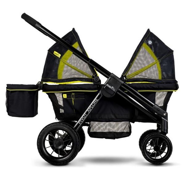 Прогулочная коляска Evenflo Pivot Xplore All-Terrain Stroller Wagon - Wayfarer, зеленый