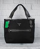 Сумка большая женская текстильная черная Prada 8187, фото 1
