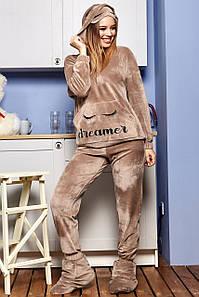 Женская плюшевая пижама с капюшоном (1661.4456-4465-4467-4460 svt)