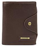 Мужской вместительный классический кошелек с эко кожи PIROYCE art. D02-09 Коричневый