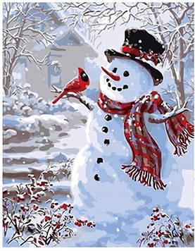 Картина за номерами 40х50 см DIY Сніговик (NX 9499)