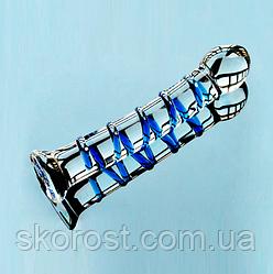 Фаллоимитатор стеклянный полосатый