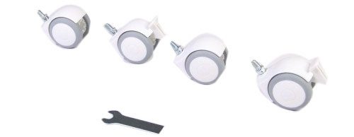 Комплект колес для кроваток Верес ЛД 3, ЛД6, ЛД10, ЛД12, ЛД13, ЛД15, ЛД16, ЛД18, ЛД19, ЛД20, белый