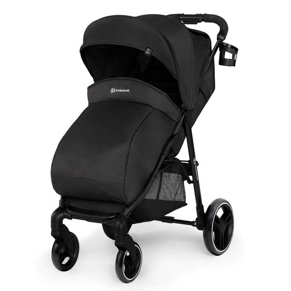 Прогулочная коляска Kinderkraft Grande City Black KKWGCITBLK0000, черный (00-00303594)