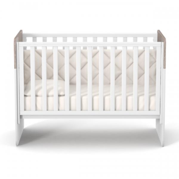 Детская кровать Верес Sidney ЛД4, 120х60 см, белый+капучино (04.3.1.1.13)