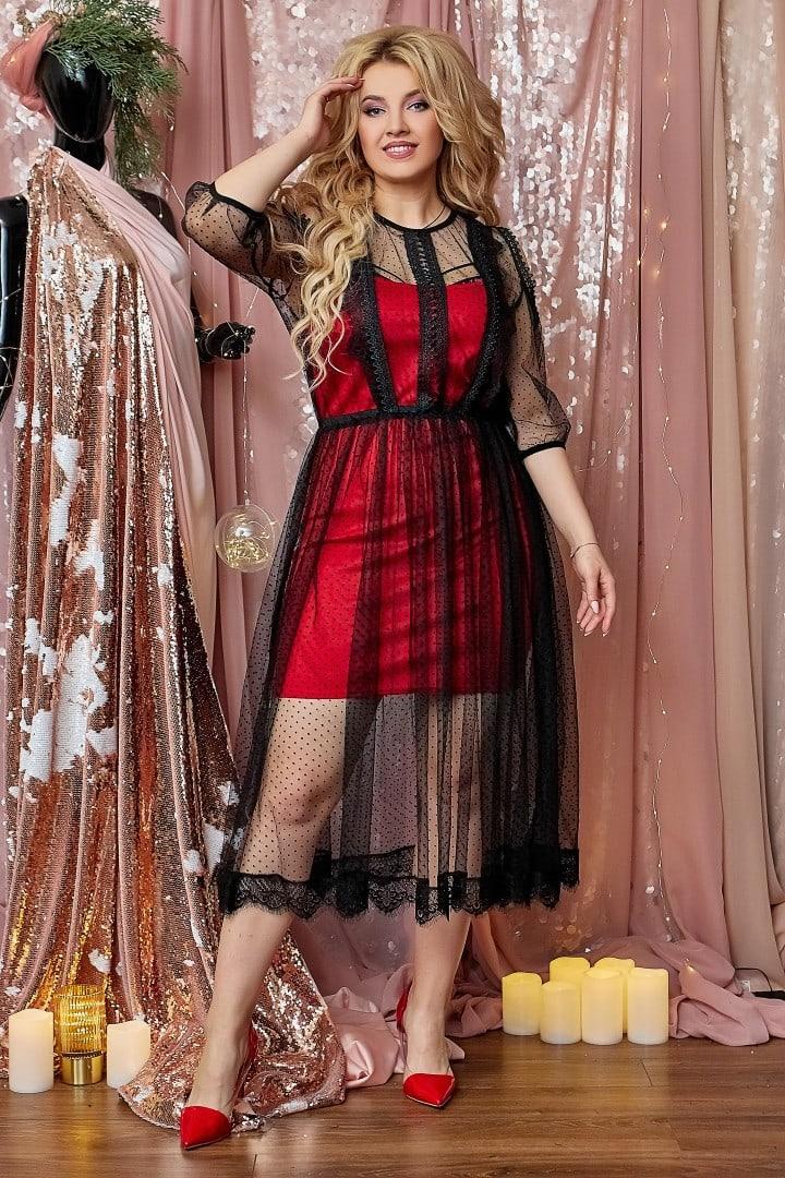 Нарядное женское платье двойка Размер 48 50 52 54 56 58 60 62 64 В наличии 4 цвета