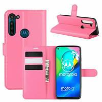 Чехол Fiji Luxury для Motorola Moto G8 Power книжка розовый