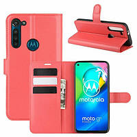 Чехол Fiji Luxury для Motorola Moto G8 Power книжка красный