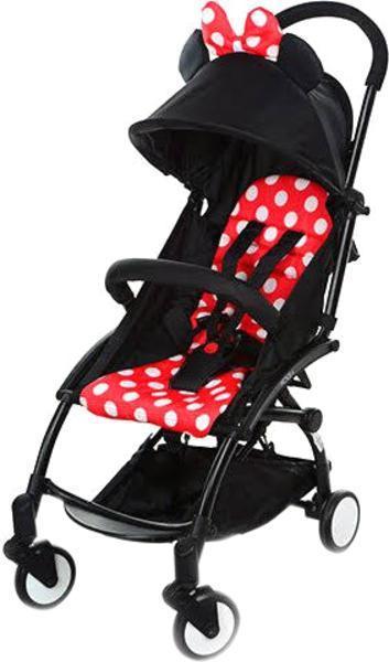 Прогулочная коляска El Camino Yoga, черный с красным (M 3548-2-3)