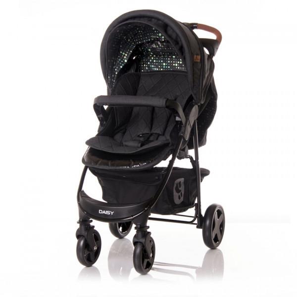 Прогулочная коляска Lorelli Daisy Set, с автокреслом, черный (23026)